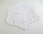 White crochet doily....
