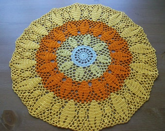 Thanksgiving doily crochet lace...home decor ,decoration ,gift idea ,spring,summer ,fall.doily.