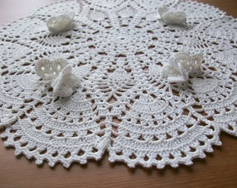 Butterfly doily.Summer,wedding gift,decoration,christmas gift idea.