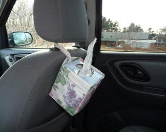 Car Tissue and Trash Caddies by Kaaachews-  Pastel Roses