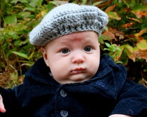 Instant PDF File For The Hayden Beret Crochet Pattern / photo prop By Adirondack Patterns size 3-6 MOS