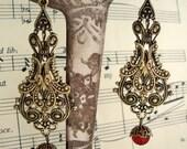 Gorgeous filigree vintage styled drop earrings