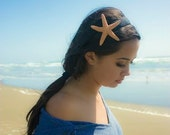 Large Starfish Headband - Natural - Cute Adorable - Beach Boho Bohemian - Romantic - Whimsical Whimsy - Dreamy Sea Star - Mermaid Collection