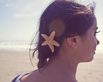 Buy One Get One Free Sale Starfish Barrette Mermaid Hair Clip Nautical Bride Bridal Bridesmaid Ariel Costume Beach Wedding Accessories Gift