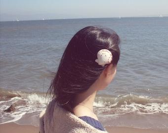 50% OFF SALE Seashell Hair Clip Sea Shell Barrette Mermaid Costume Ariel Nautical Bridesmaid Beach Wedding Accessories Womens Gift For Her