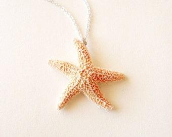 Sugar Starfish Necklace Mermaid Jewelry Bride Bridal Bridesmaids Nautical Beach Weddings Ariel Accessories Girlfriend Womens Gift Summer
