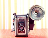 photograph print, vintage camera, kodak duaflex IV,  retro 1950s, brownie, medium format, art print