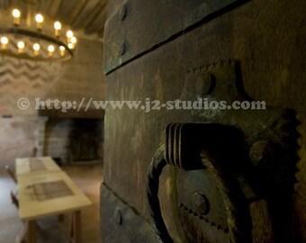 castle door photograph, medieval photography, wooden door knocker, travel photograph