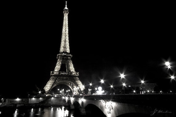 Eiffel Tower Pictures Black and White by j2studiosphotography