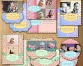 Photoshop Templates For Photographers Birth Announcement Luxe Photo Card - Babies of Fulfilled Promises - No 461