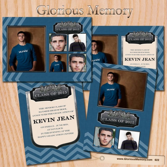 Items similar to graduation announcement invitation card for Free senior templates for photoshop