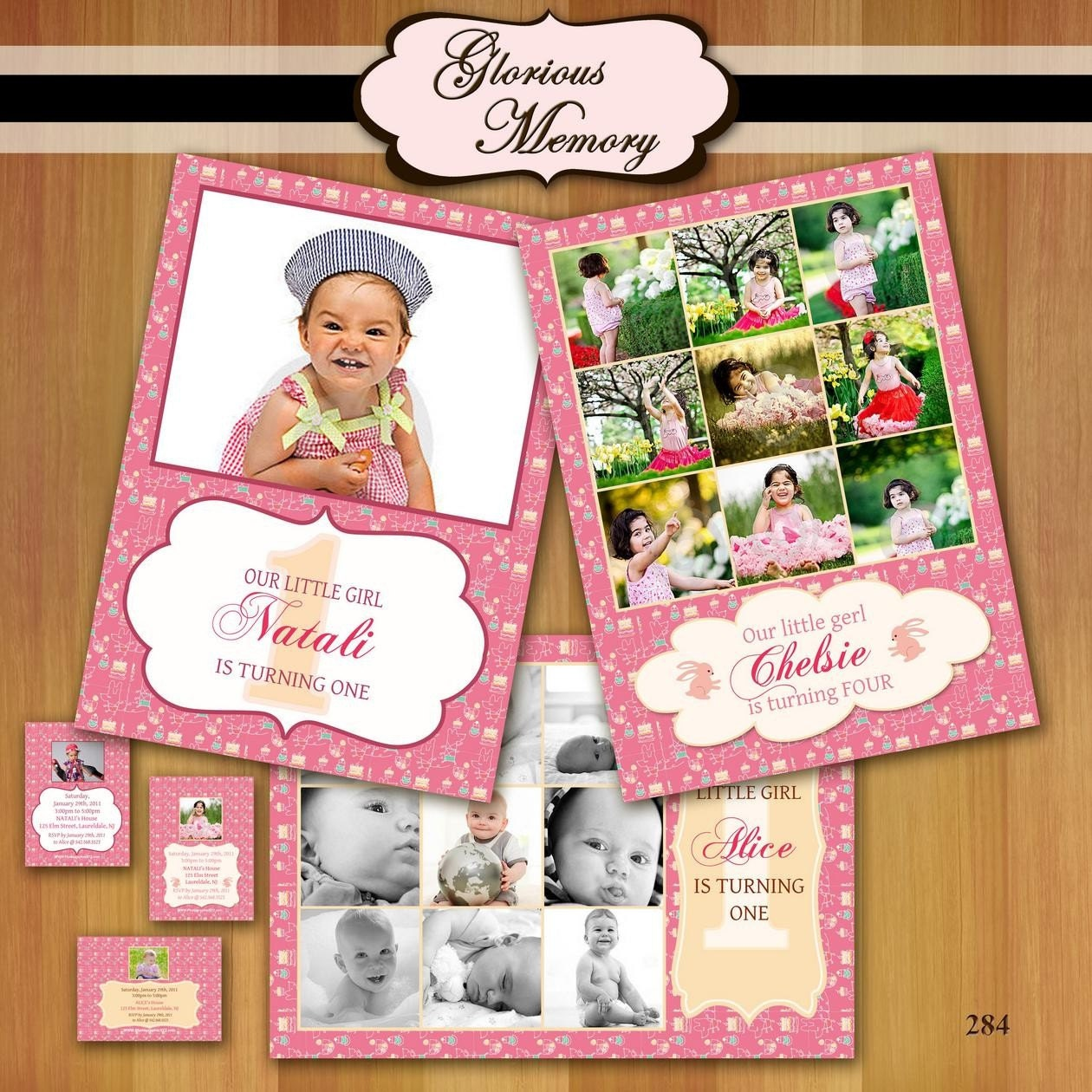 Birthday Invitation Template Photoshop Elements
