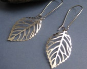 Silver Leaf Earrings filigree jewelry