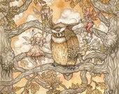 Leave Poor Old Mr Owl Alone - A4 Print