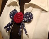 Bib Necklace Handcrafted Fabric Large Handmade Jewelry Artisan Fashion Accessory Boho Style