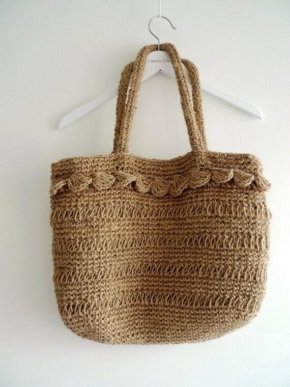 No 6 linen tote bag - Bolsos tejidos a crochet ...