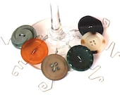 Whimsical Button Wine Glass Charms