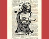 Victorian Bandsaw Ready to Rip - upcycled 8x10 1898 dictionary page print - BONUS - Buy 3 Prints, Get 1 More For FREE