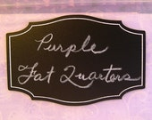 New Colors! Chalkboard labels: Extra large 4 inch by 2 5/8 inch 'Apothecary' shape with permanent, printed white border - 8 pieces