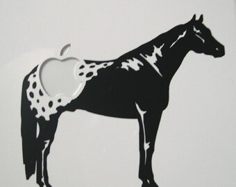 Apple-loosa vinyl Macbook sticker decal in black or white - Free shipping to Canada and USA