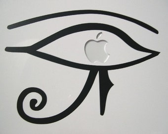 Eye of Horus Macbook sticker decal in black, white or gold - Free shipping to Canada and USA