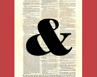 When Words Are Not Enough (or Too Much) Part1 - upcycled 8x10 1898 dictionary page print - BONUS - Buy 3 Prints, Get 1 More For FREE