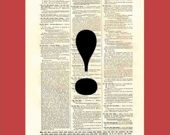 Dictionary Page Print. Typography. When Words Are Not Enough (or Too Much) Part 3.  BONUS - Buy 3 Prints, Get 1 More For FREE