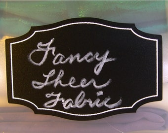 New Colors! Chalkboard labels: Medium 3 inch by 1 7/8 inch 'Apothecary' shape with permanent, printed white border - 12 pieces