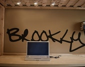 Vinyl Wall Art Decal Sticker Brooklyn Graffiti NYC Art item T101