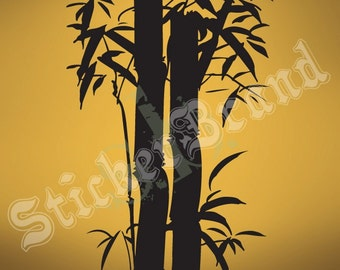 Vinyl Wall Art Decal Sticker Large Asian Bamboo Tree 100