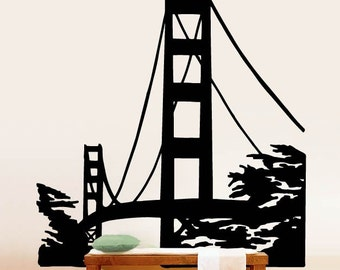 Vinyl Wall Decal Sticker Golden Gate Bridge item 174A