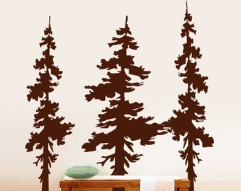Vinyl Wall Decal Sticker Forest Trees Combo 6 ft tall item 186A