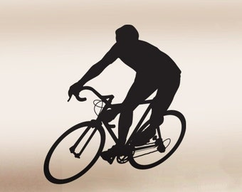 Vinyl Wall Decal Sticker Bicyclist 214A