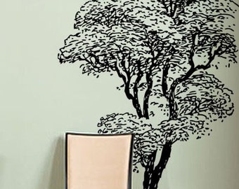 Vinyl Wall Decal Sticker Tall Tree 6ft tall Decoration
