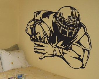 Vinyl Wall Decal Sticker Big Football Player Decoration Large 37 X 35