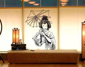 Vinyl Wall Decal Sticker Japanese Geisha 295s