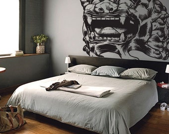 Vinyl Wall Decal Sticker Asian Chinese Dragon Statue 315B