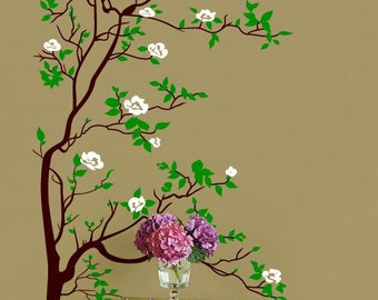 Vinyl Wall Decal Sticker Tree with Blossom Leaves 6ftTall item 318A