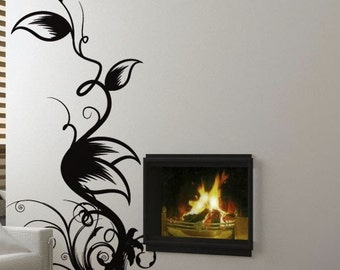 Vinyl Wall Decal Sticker Floral Leaves Swirls 6ft