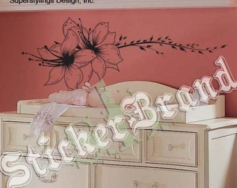 Vinyl Wall Decal Sticker Flower Vines Floral Edge