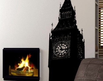 Vinyl Wall Decal Sticker Big Ben Clock Britain U.K. 260A