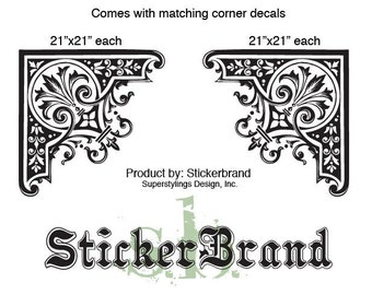 Vinyl Wall Decal Sticker Arabic Style Ornament Pair 380