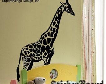 Vinyl Wall Decal Sticker 7ft Tall BIG Giraffe 383A