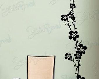 Vinyl Wall Decal Sticker Floral Flower Stem 412A
