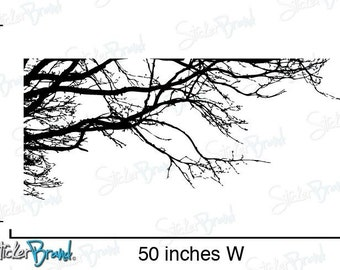 Vinyl Wall Decal Sticker Tree Top Branches (S) 21W X 50H item 444s