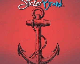 Vinyl Wall Art Decal Sticker Antique Ship Anchor 541