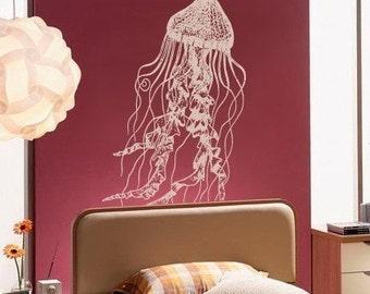 Vinyl Wall Decal Sticker JellyFish Deep Sea Ocean item364A