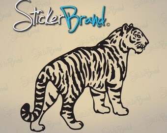 Vinyl Wall Decal Sticker Tiger Strips 590