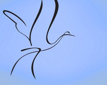 Vinyl Wall Decal Sticker Bird Flying Art 614s