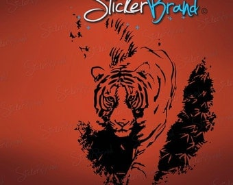 Vinyl Wall Decal Sticker Tiger Prowling 627s
